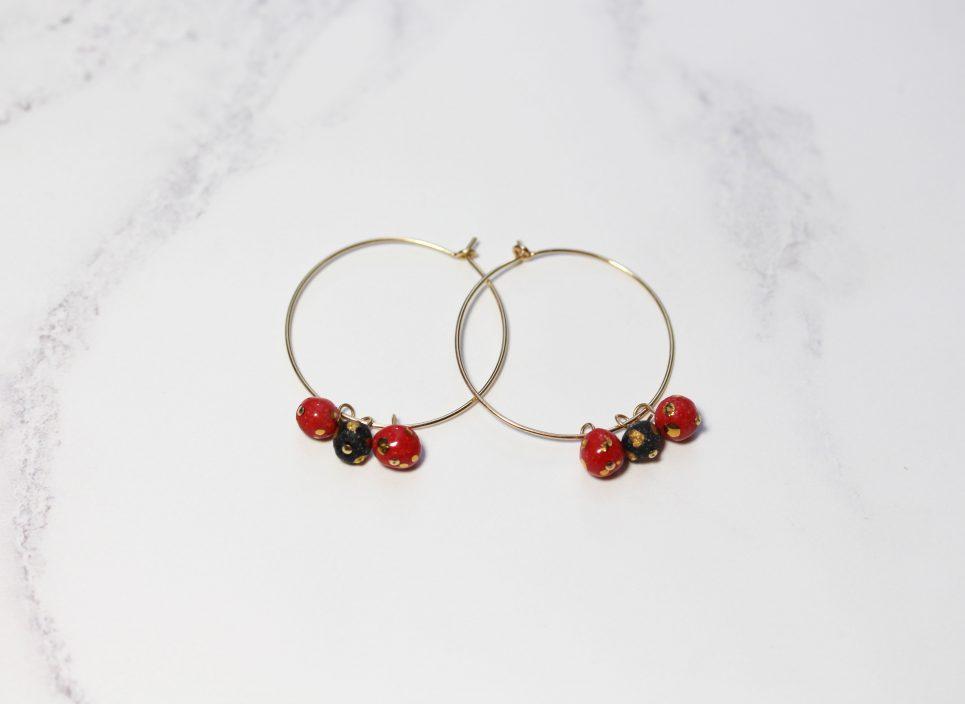 red-blc-bead-hoops